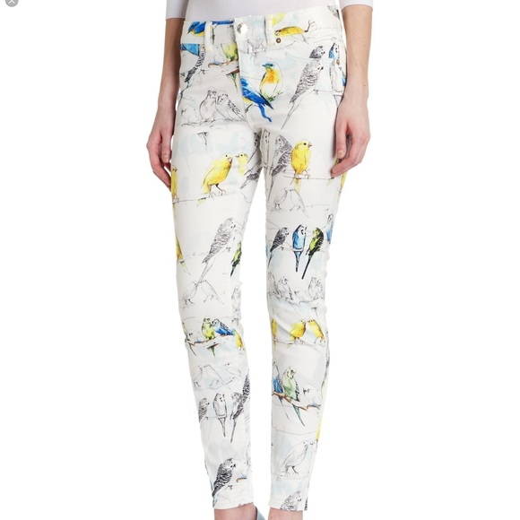 Ted Baker London Denim - Ted Baker Canary Print Jeans Size 28